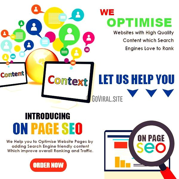 on page seo optimisation